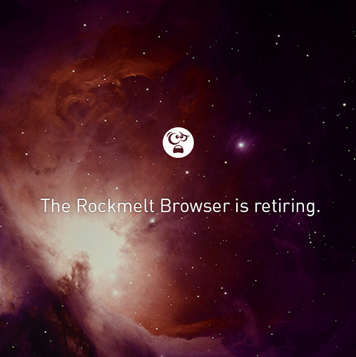 Rockmelt Browser Retiring